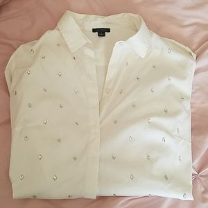 Ann Taylor gem button down blouse